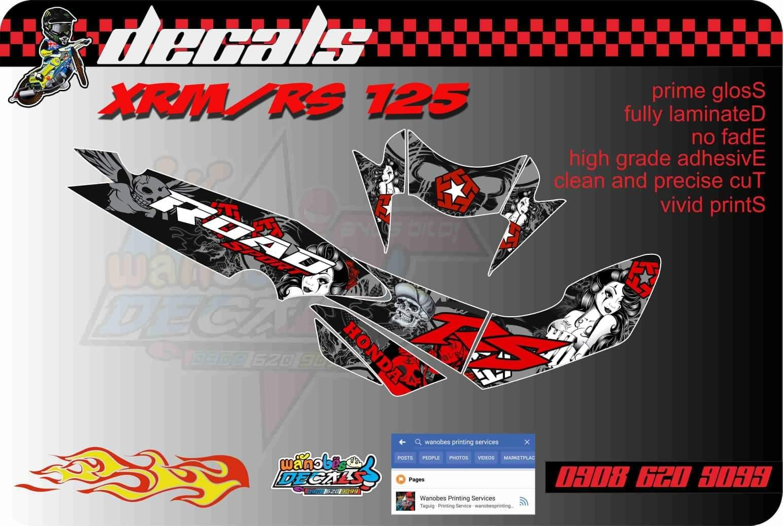 Honda xrm rs 125 decals