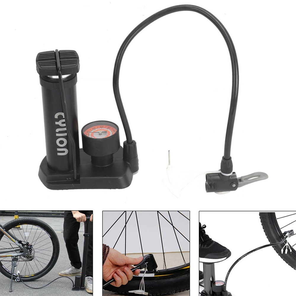Voucher Khuyến Mại Compact MTB Bicycle Bike Pump Mini Air Inflator With Tire Air Pressure Gauge