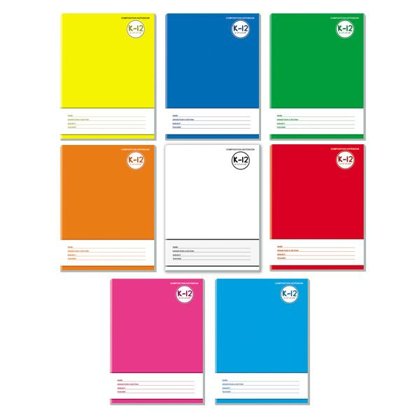 Image of Avanti K-12 Color Coding Composition Notebook Set of 8