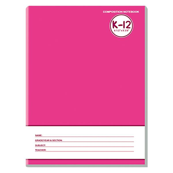 Image of Avanti K-12 Color Coding Composition Notebook Set of 8