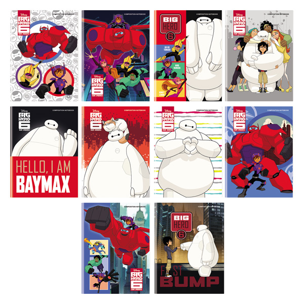 Image of Orions Disney Big Hero 6 Composition Notebook Set of 10