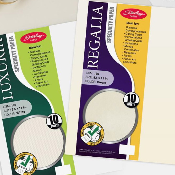 Image of Sterling Regalia Specialty Paper 30 sheets - 8.5'' x 13'' 160gsm