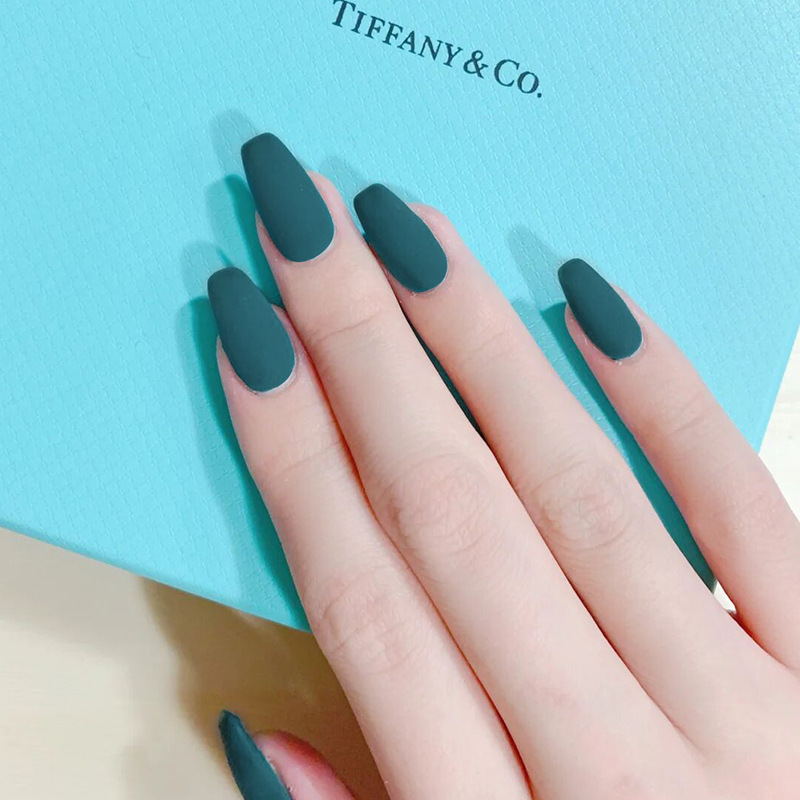 Với keo 24 móng tay giả có keo sẵn ballet bộ móng tay giả nail art frosted móng giả móng tay giả nail patch