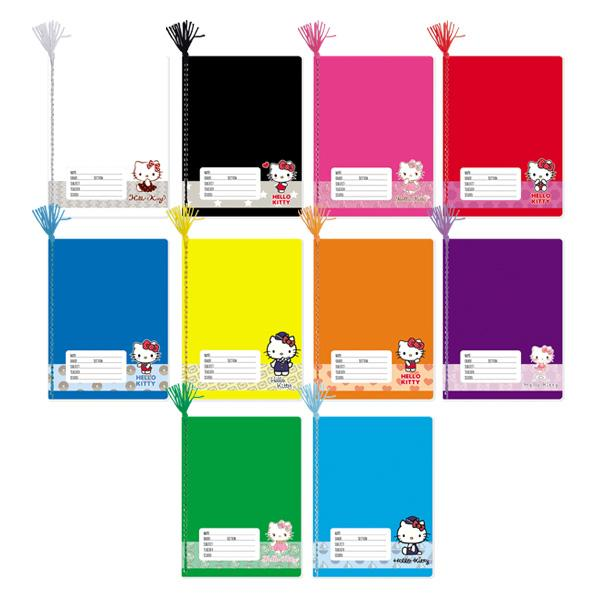 Image of Orions Hello Kitty Color Coding Yarn Notebook Set of 10