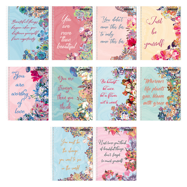 Image of Orions F Quotes Spiral Notebook Set of 10