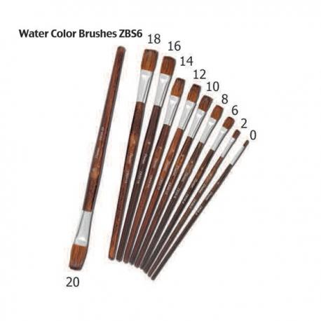 Image of Pentel Arts Water Color Brushes Flat ZBS6 Size 10