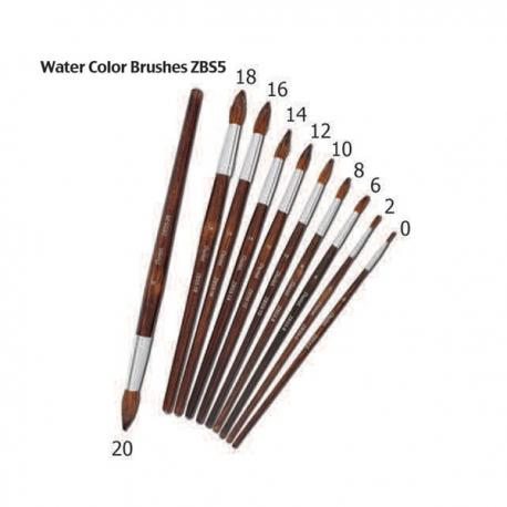 Image of Pentel Arts Water Color Brushes Round ZBS5 Size 12