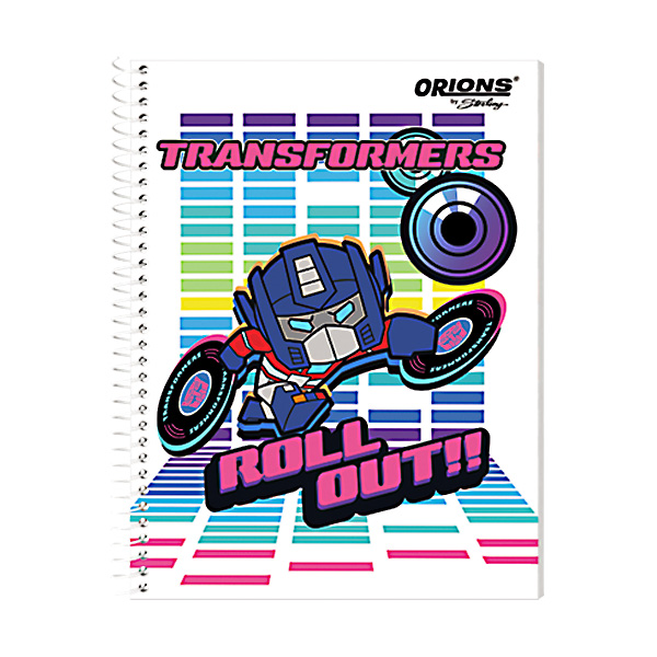 Image of Orions Transformers Spiral Notebook Set of 10