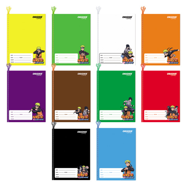 Image of Orions Naruto Shippuden Color Coding Yarn Notebook Set of 10