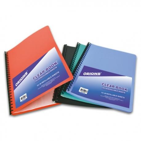 Image of Orions Clear Book Green - Refillable FC20