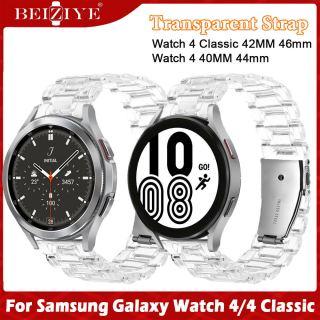 Nhựa dây đeo đồng hồ cho Samsung Galaxy Watch 4 Dây đeo đồng hồ thông minh 40mm 44mm Dây đeo bằng thép trong suốt cho Samsung Galaxy Watch 4 Dây đeo đồng hồ cổ điển 42mm 46mm thumbnail