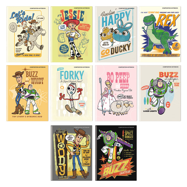 Image of Orions Disney Toy Story Composition Notebook Set of 10