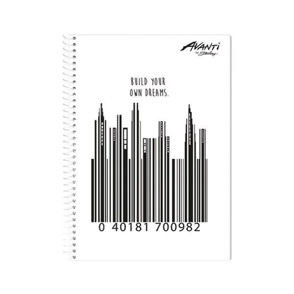 Image of Avanti Code Lines Premium Spiral Notebook Set of 8