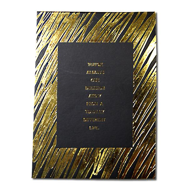 """Image of Sterling 5"""" x 7"""" PaperTrends Note Pad BlackSeries - One Decision Away"""