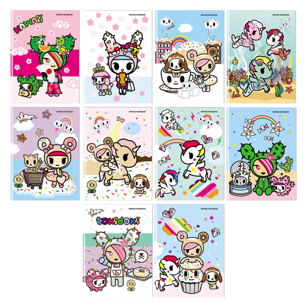Image of Orions Tokidoki Writing Notebook Set of 10
