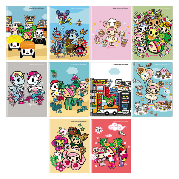 Image of Orions Tokidoki Composition Notebook Set of 10