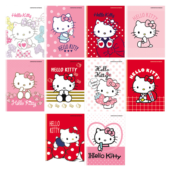Image of Orions Hello Kitty Composition Notebook Set of 10