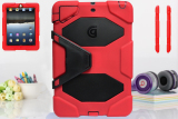 Griffin Survivor Military Hard Case for iPad Air 1 (Red) - 3