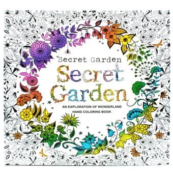 Inspire Zen Secret Garden Anti Stress Coloring Book