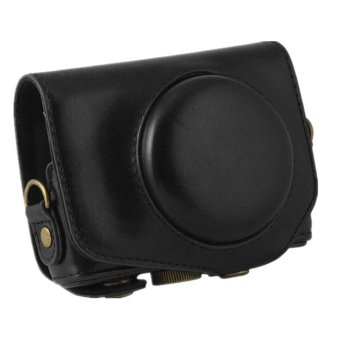 PU Leather Case Bag Cover for Canon G7X 1 Digital Camera with Strap
