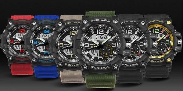 SANDA 2017 New Luminous Waterproof Run Men's Fashion Digital watch 340 - intl