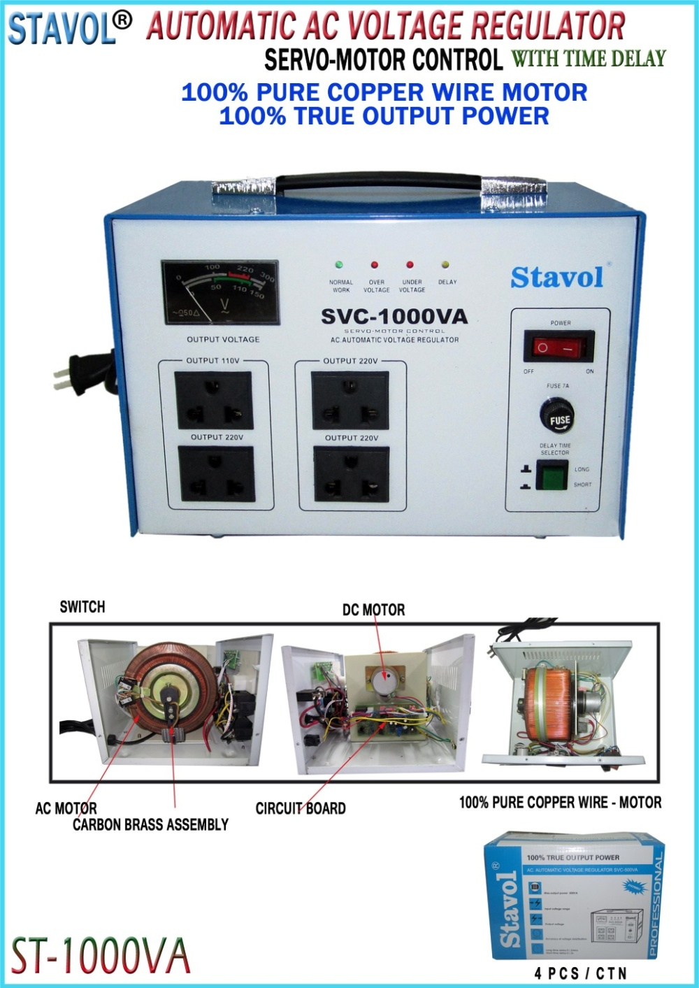Stavol Svc 1000va Automatic Voltage Regulator Lazada Ph Power Supply Circuit Powersupply Ac Maximum