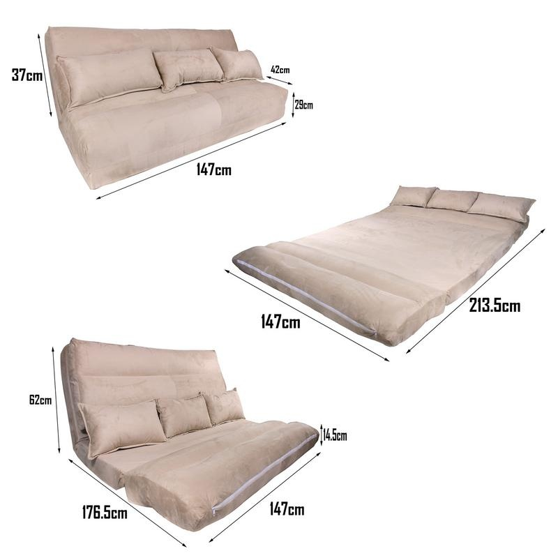Phoenix 3 way convertible sofa bed lazada ph for Sofa bed lazada
