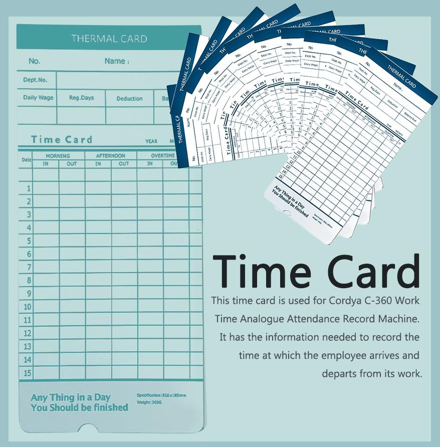 work time card