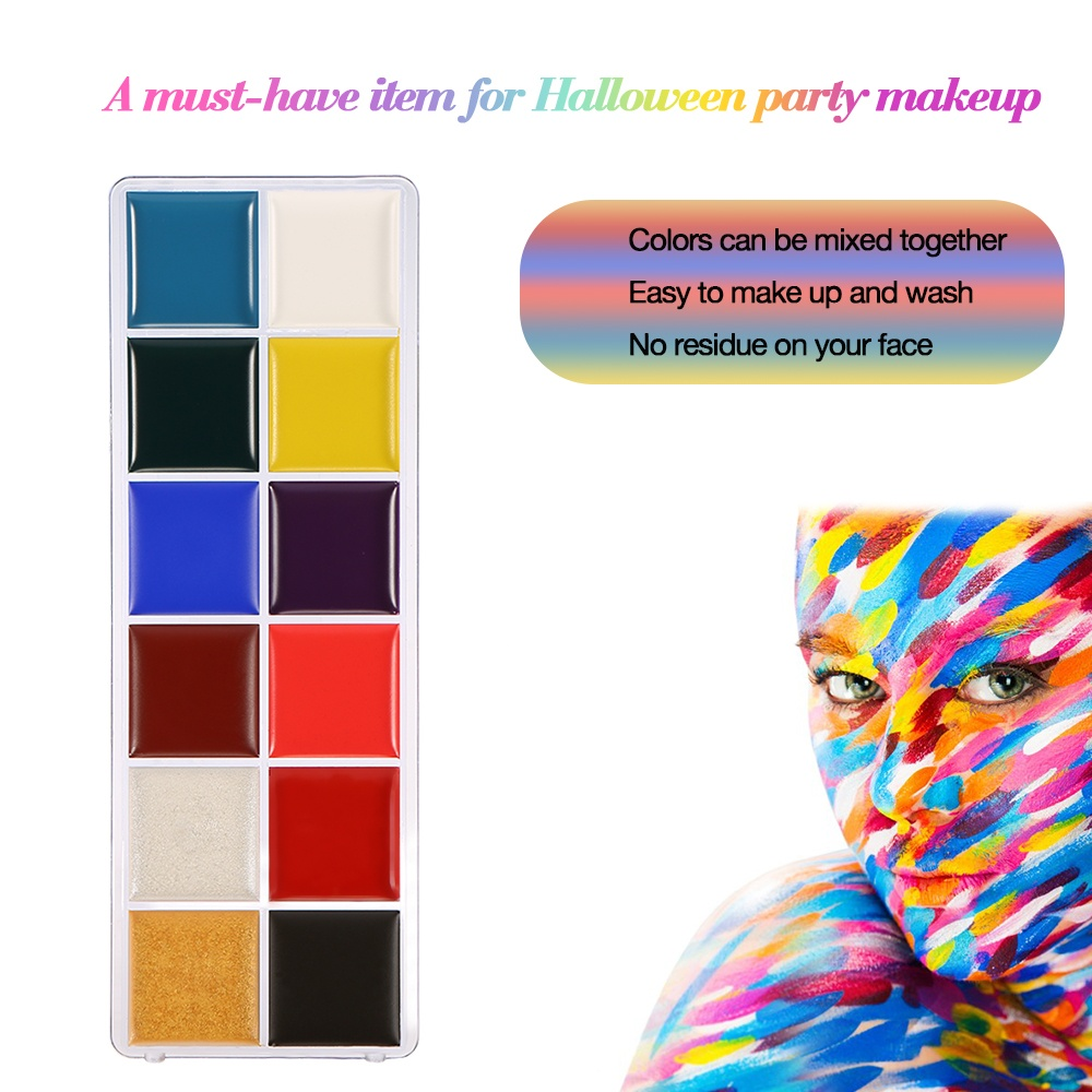 12 colors body face paint oil professional diy painting make up kit do you want to present your unique side in a party do you want to surprise others as well as yourself this face body paint allows your to make up solutioingenieria Image collections