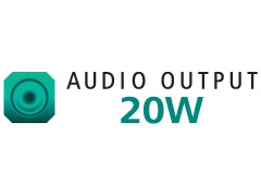 AUDIO OUTPUT 20W