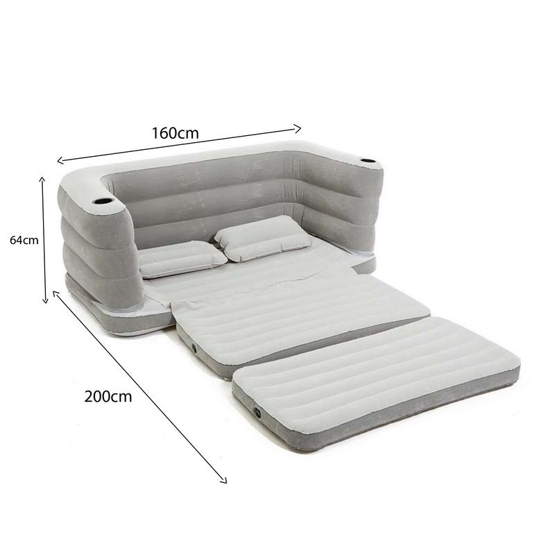Bestway double person multifunctional inflatable sofa bed for Sofa bed lazada