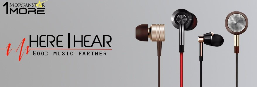 Product details of 1MORE E1009 Piston Fit In-Ear Earphone Earbud Headset with Microphone (Silver)