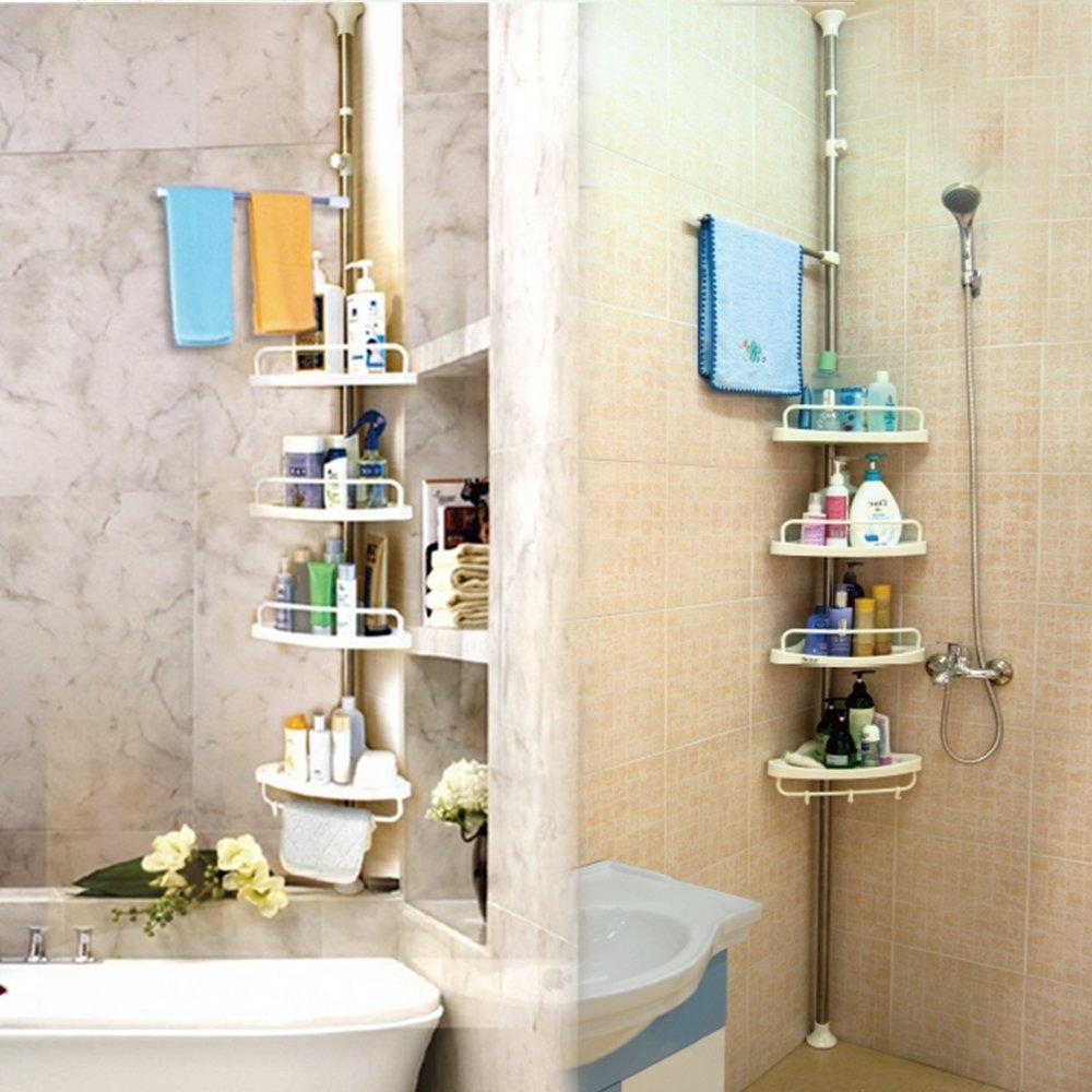 Adjustable Bathroom Corner Pole Caddy Shower Organizer | Lazada PH