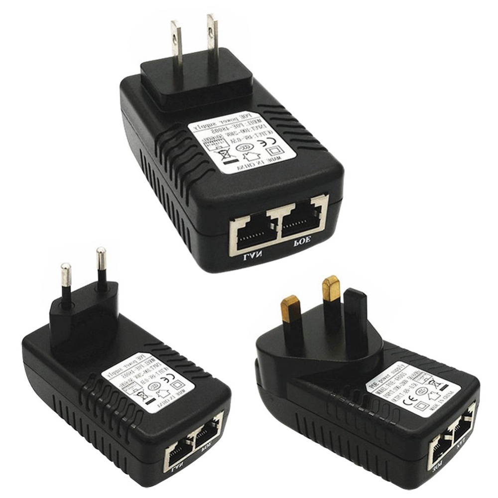 Ybc Us Plug Security Poe Power Supply Adapter 24v 1a Injector Ethernet Wall Jack Wiring Lan Port Connect A Router Switch Or Directly To The Host Computer Network Interface 1236 Signal Pins