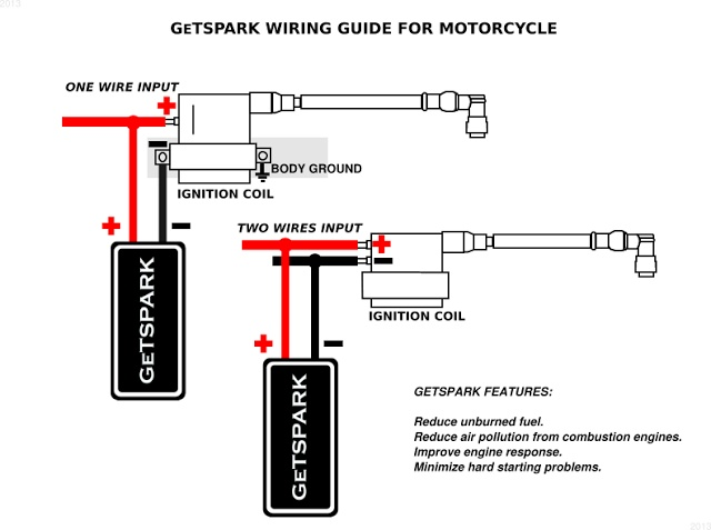Getspark Booster For Motorcycle With Free Now12 Engine Oil Enhancer Rhlazadaph: Ignition Coil Booster Wiring Diagrams At Elf-jo.com