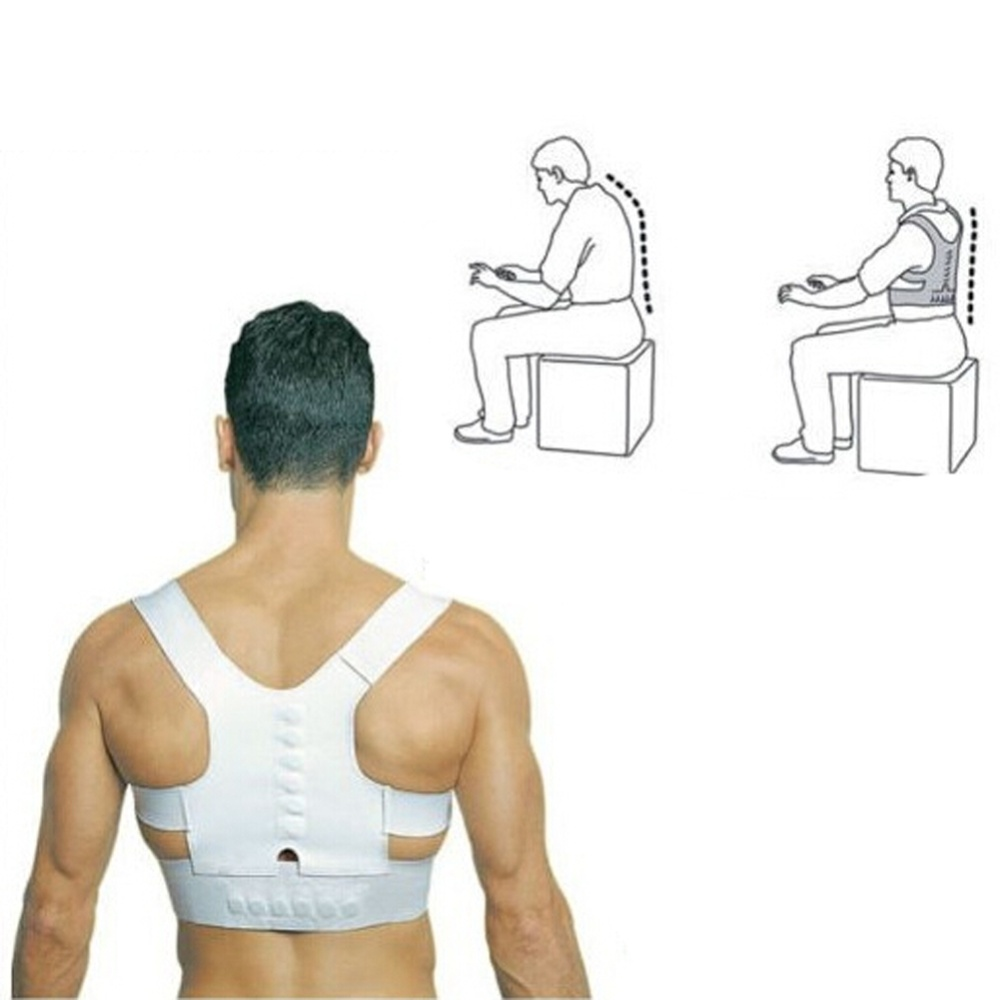 Magnetic Posture Humpback Support Corrector Belt Back Brace Alat Penegak Punggung Sport Power Helps Correct By Gently Pulling The Shoulders Offers Therapeutic Healing Drug