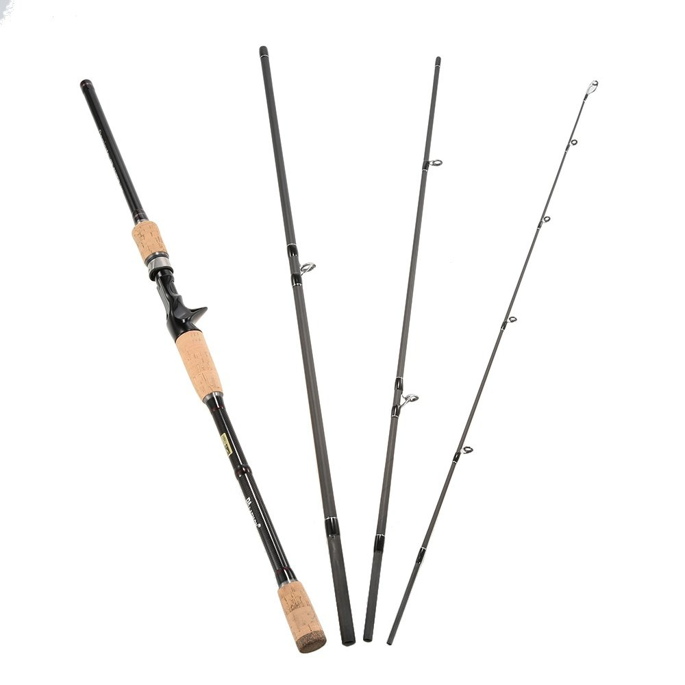 Product details of 4 Sections Carbon Fiber Portable Baitcasting Spinning Fishing Rod Medium Rod Fishing Pole for Saltwater and Freshwatern 2.1m - intl
