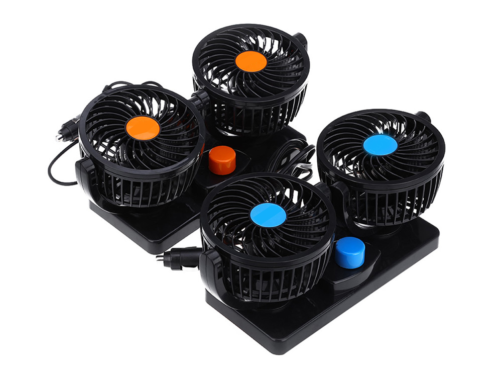 Mitchell 2 Gears 360 Degree Rotating Mini Low Noise Adjustable Car Air Conditioner Cooling Fan