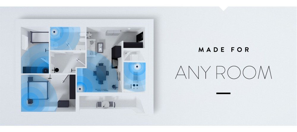 Echo Dot in any room