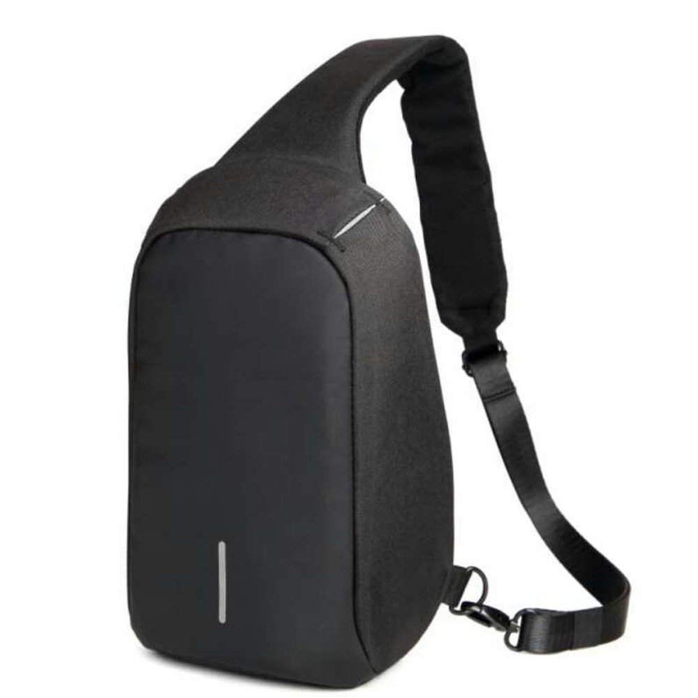 3eb8f6b1f9 Product details of Reflectorized Fashionable Anti-theft Crossbody Bag(Black)
