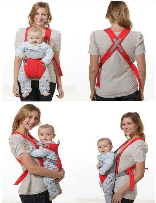 Adjustable Straps Baby Carriers model#108(Light Blue) With Moon Walk
