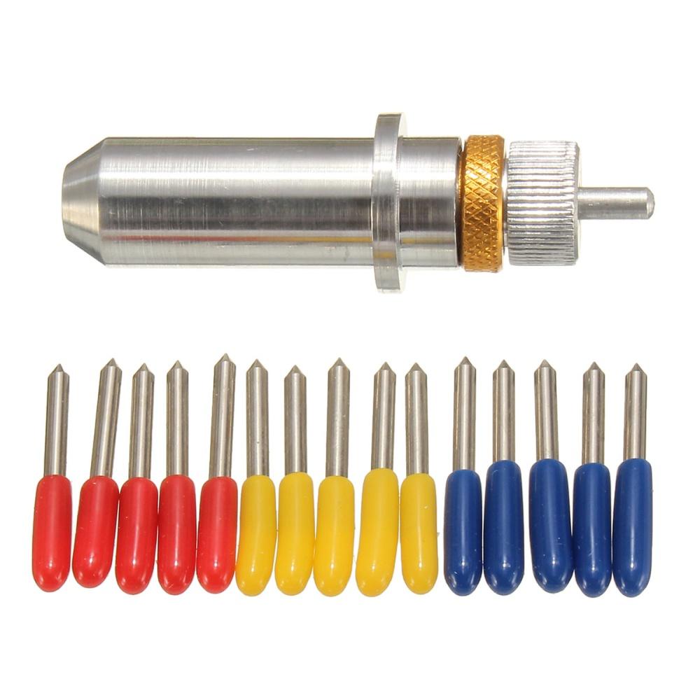 Product details of 15pcs 30°/45°/60° Degree For Roland Cutting Plotter Vinyl Cutter Blade+Holder - intl