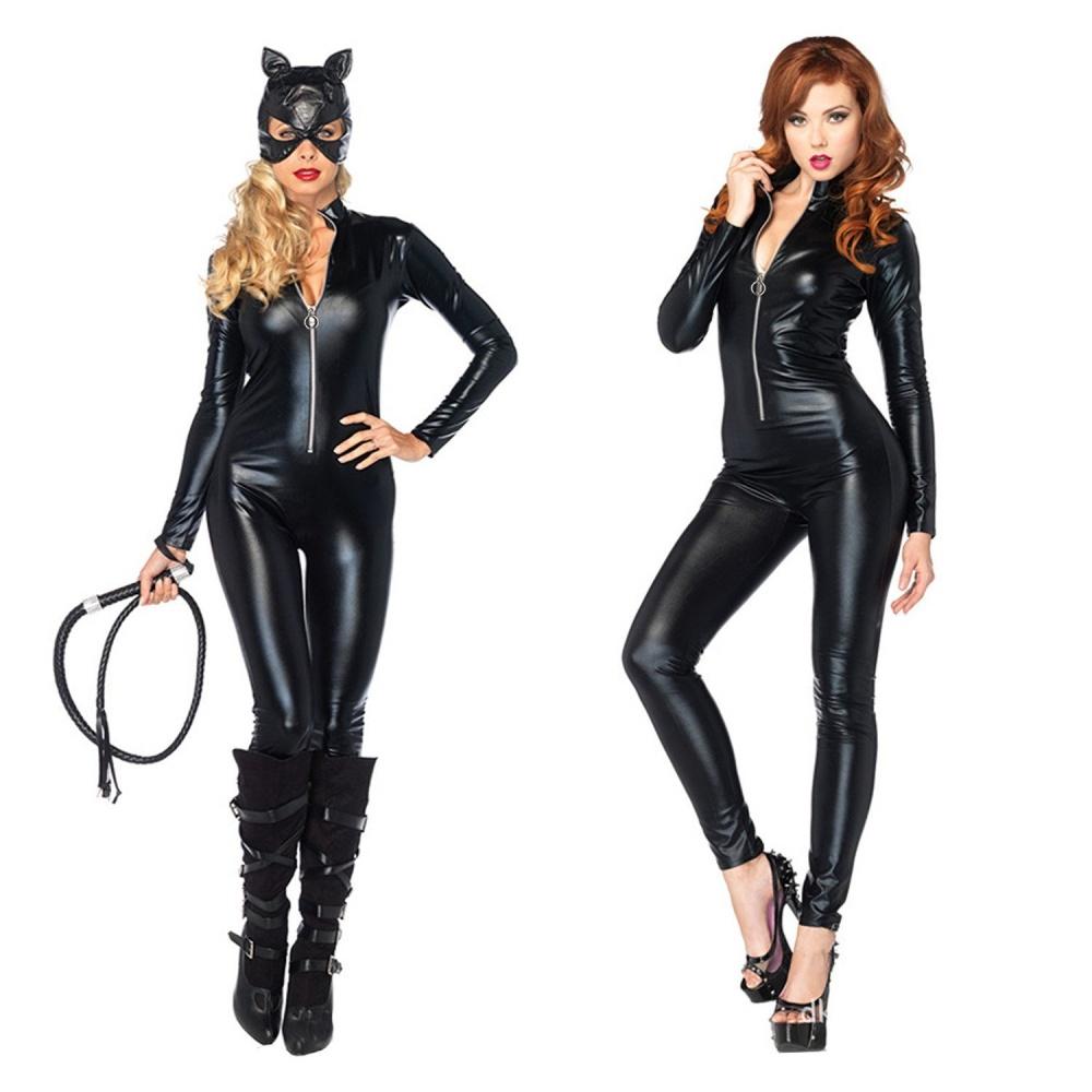 1 x Catwoman Costume Fancy Dress  sc 1 st  ideaforliving.info & Philippines   Catwoman Jumpsuit PU Leather Catwoman Costume Fancy ...