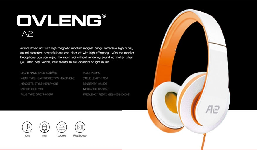 ovleng a2 comfortable fit over the ear dynamic stereo smartphone and rh lazada com ph
