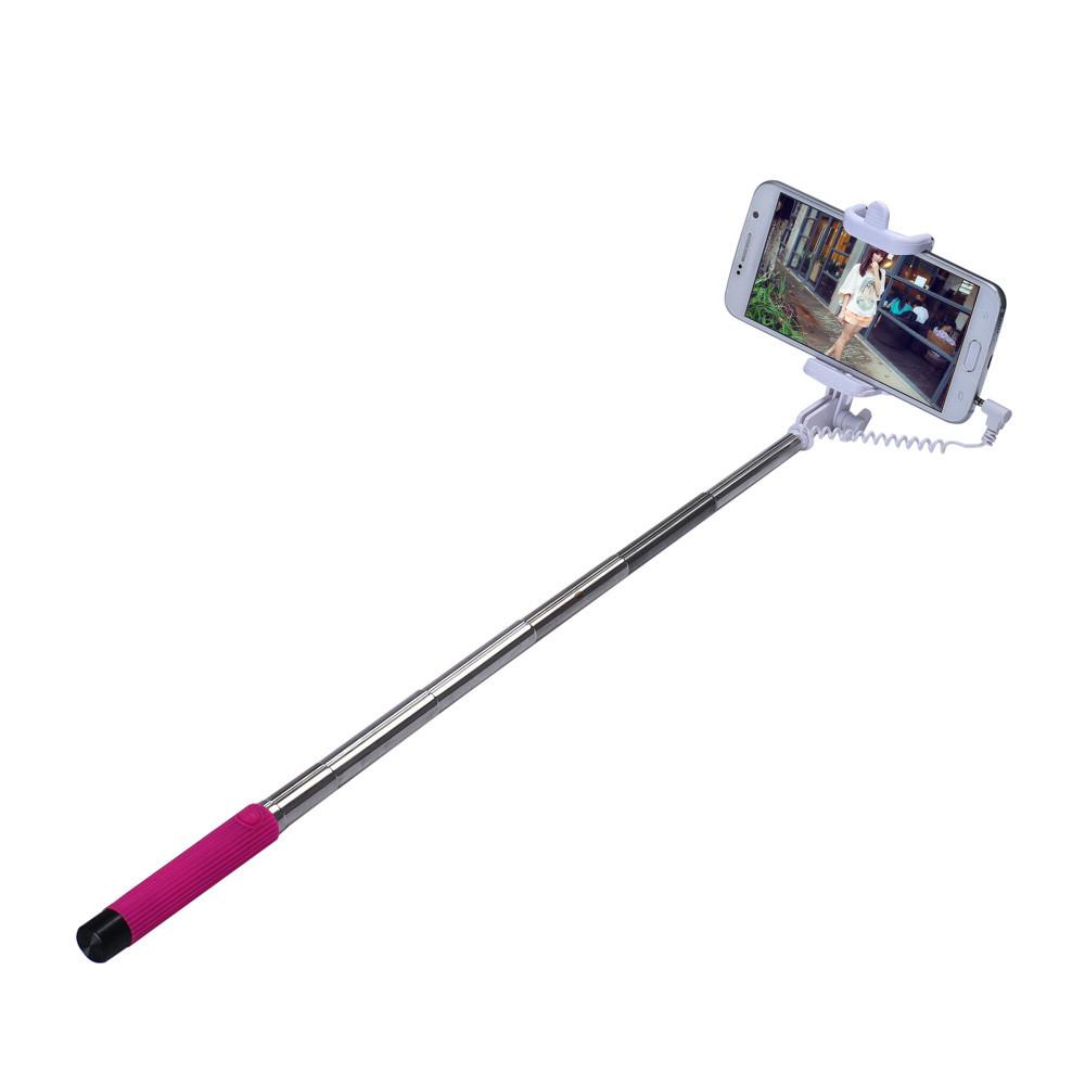 extendable handheld self pole tripod monopod stick for smartphone hot pink lazada ph. Black Bedroom Furniture Sets. Home Design Ideas