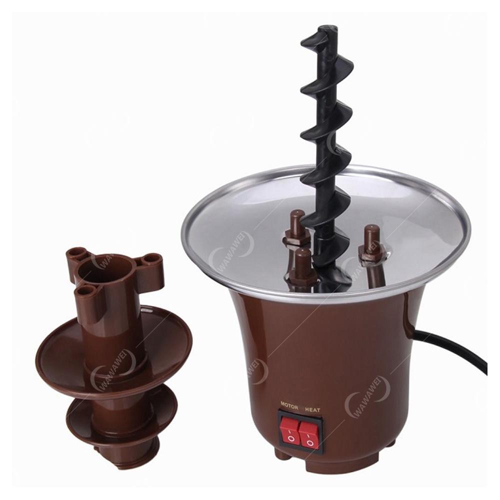 Mini Chocolate Fondue Fountain Set of 3 (Brown) | Lazada PH