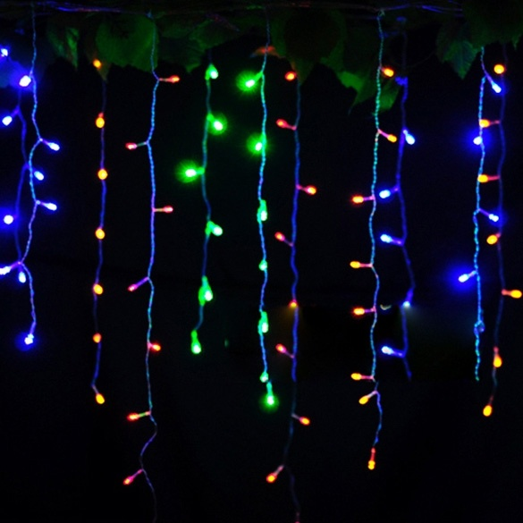 Cyber 3.5m Droop EU Plug Curtain Icicle String Lights 220V New Year Christmas LED Lights Garden ...