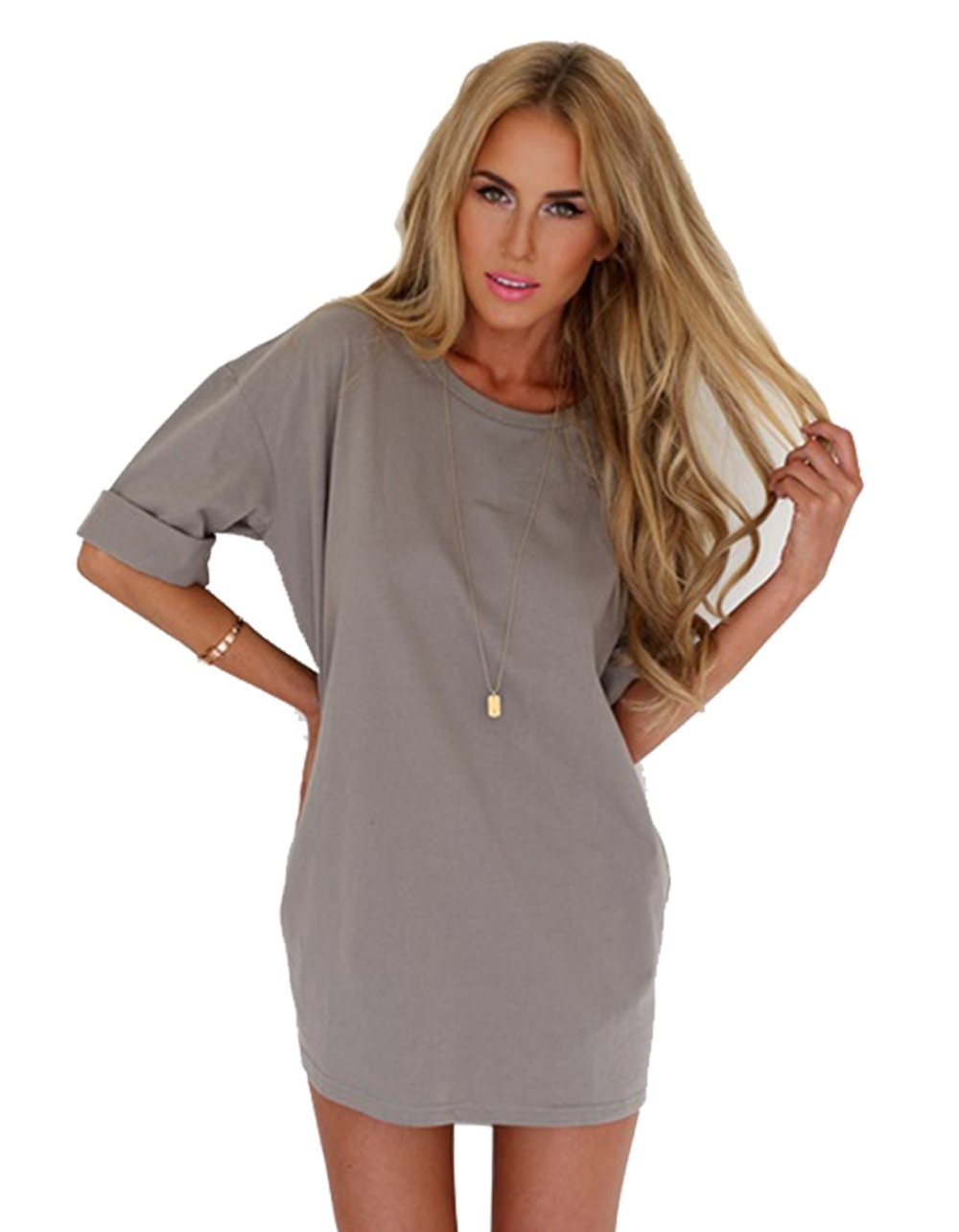 sunweb short sleeve women loose shift dress