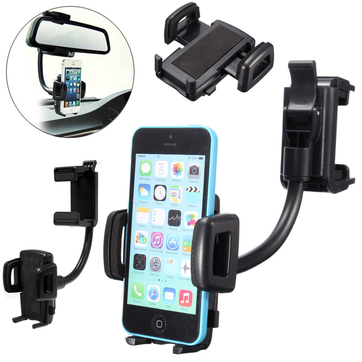 Car rearview mirror mount holder car reviews - Adjustable Length And Height Of The Car Rear Clip With Its Length From 6 7 To 10 5cm And Its Height From 2 2 To 4 8cm Which Fits Almost All Cars