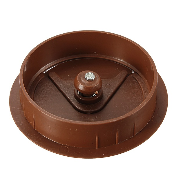 60mm computer desk grommet table cable wire outlet cord plastic hole cover cap brown lazada ph. Black Bedroom Furniture Sets. Home Design Ideas